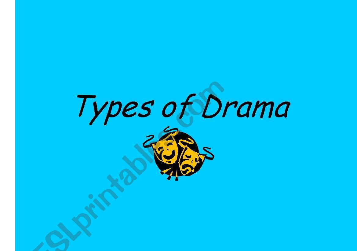 English Worksheets Types Of Drama Posters For The Classroom