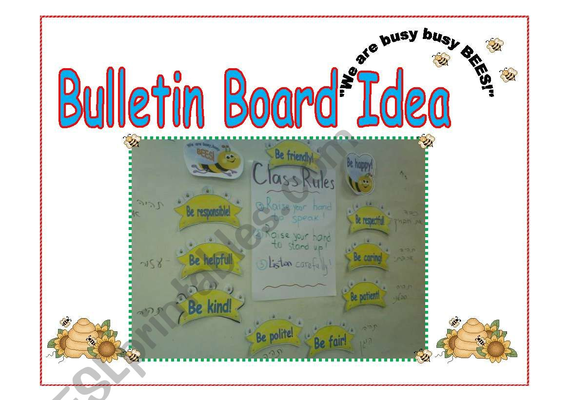 Bulletin Board Idea Classroom Rules