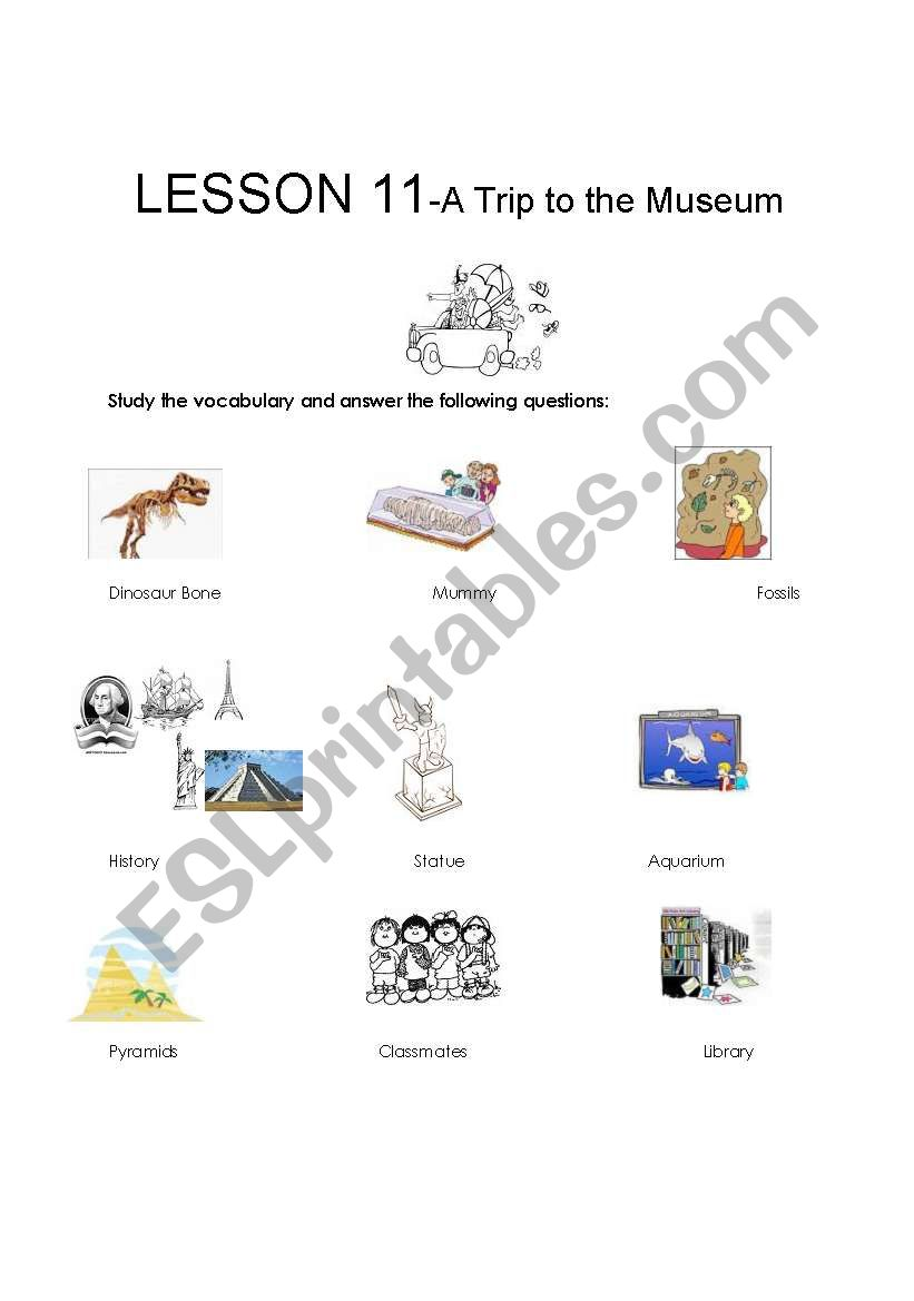English worksheets: A Trip to the Museum