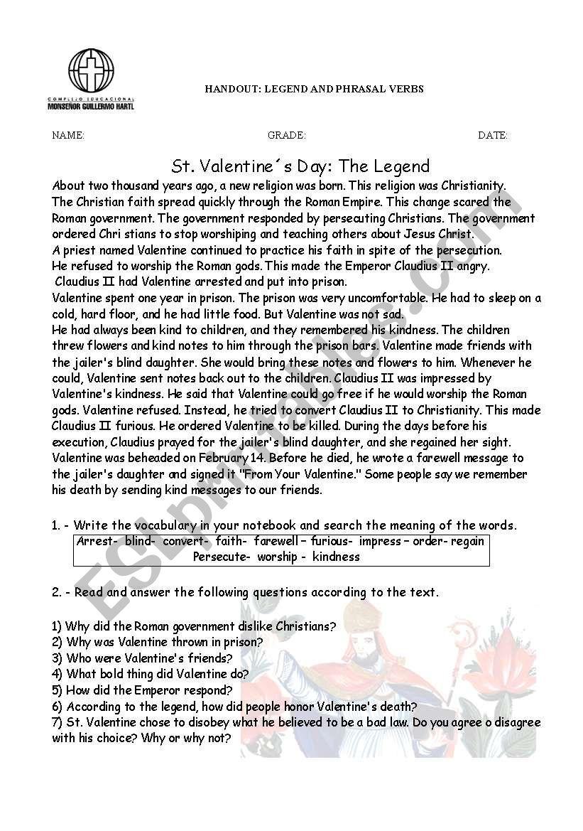 hight resolution of Phrasal verbs / legend - ESL worksheet by titita