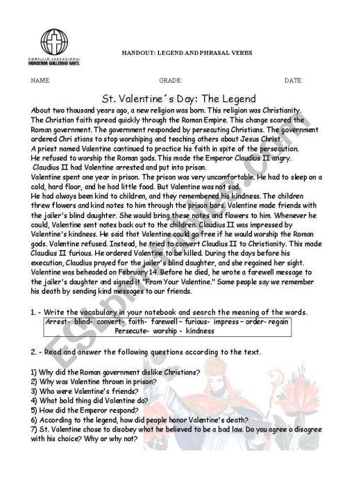 small resolution of Phrasal verbs / legend - ESL worksheet by titita