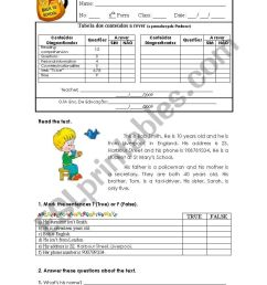 Diagnostic test 6th grade 1/2 ESL worksheet by Carlos D. [ 1169 x 821 Pixel ]