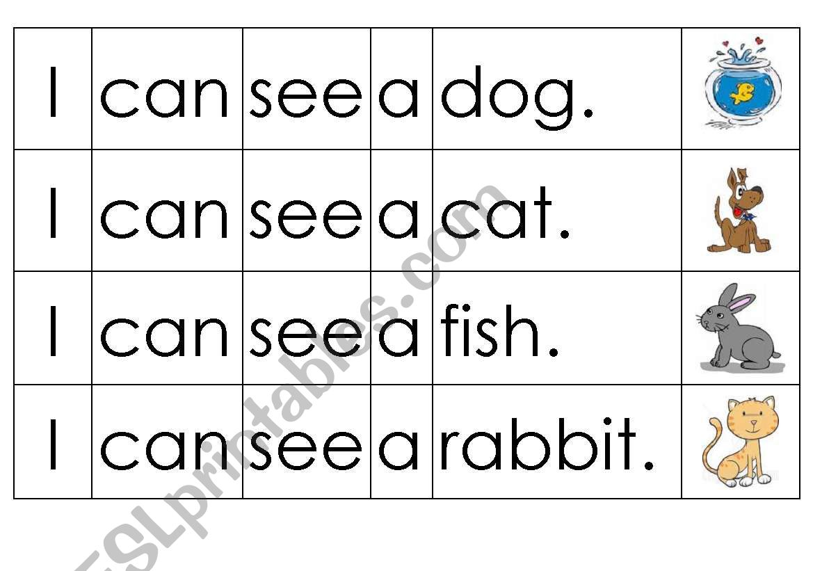 Pets Sentence Sequencing