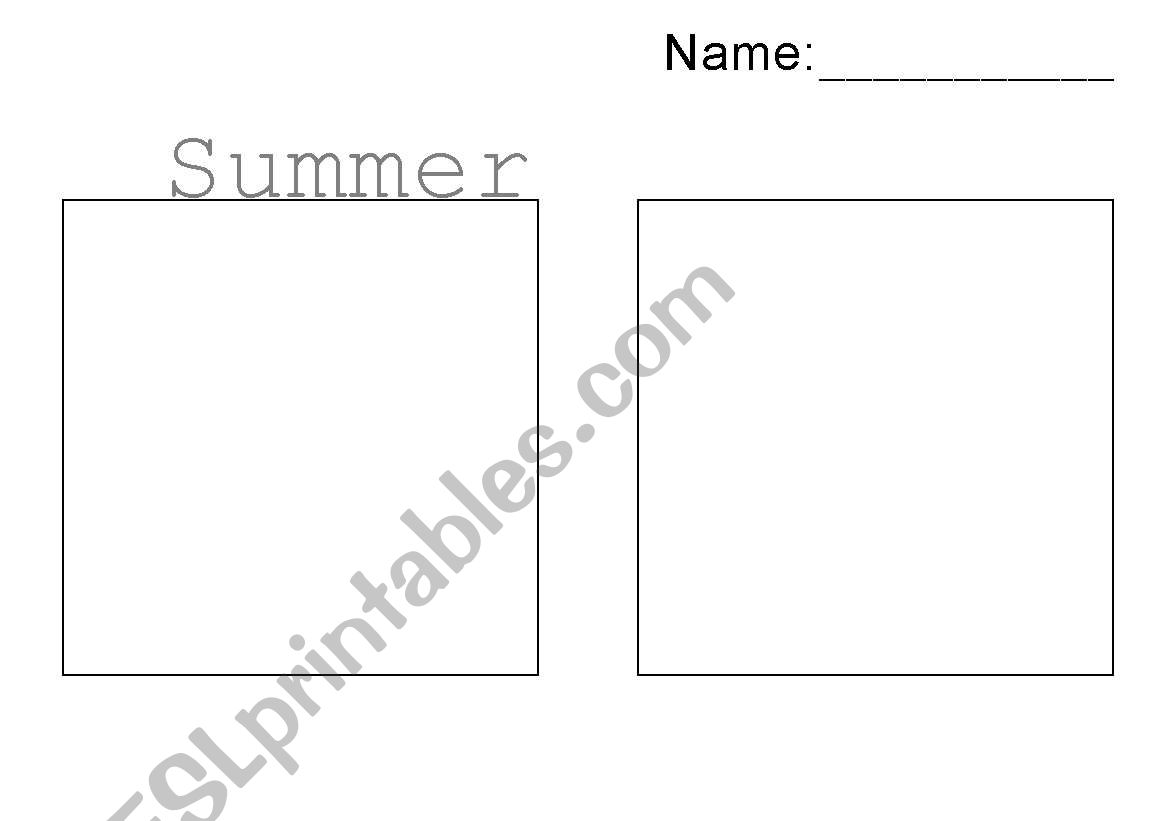 English Worksheets Winter And Summer Clothes Worksheet
