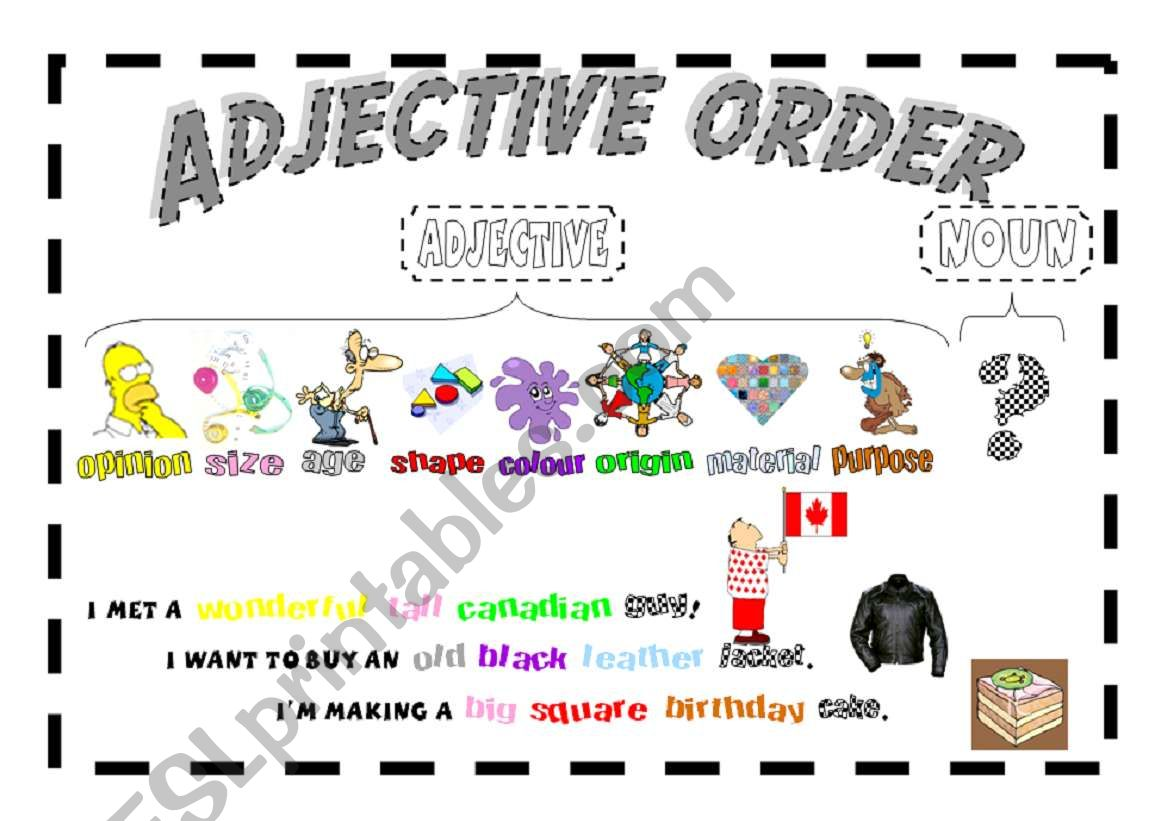 The Order Of Adjectives