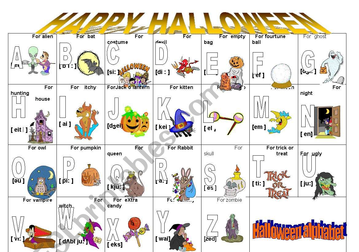 Vocabulary About Halloween