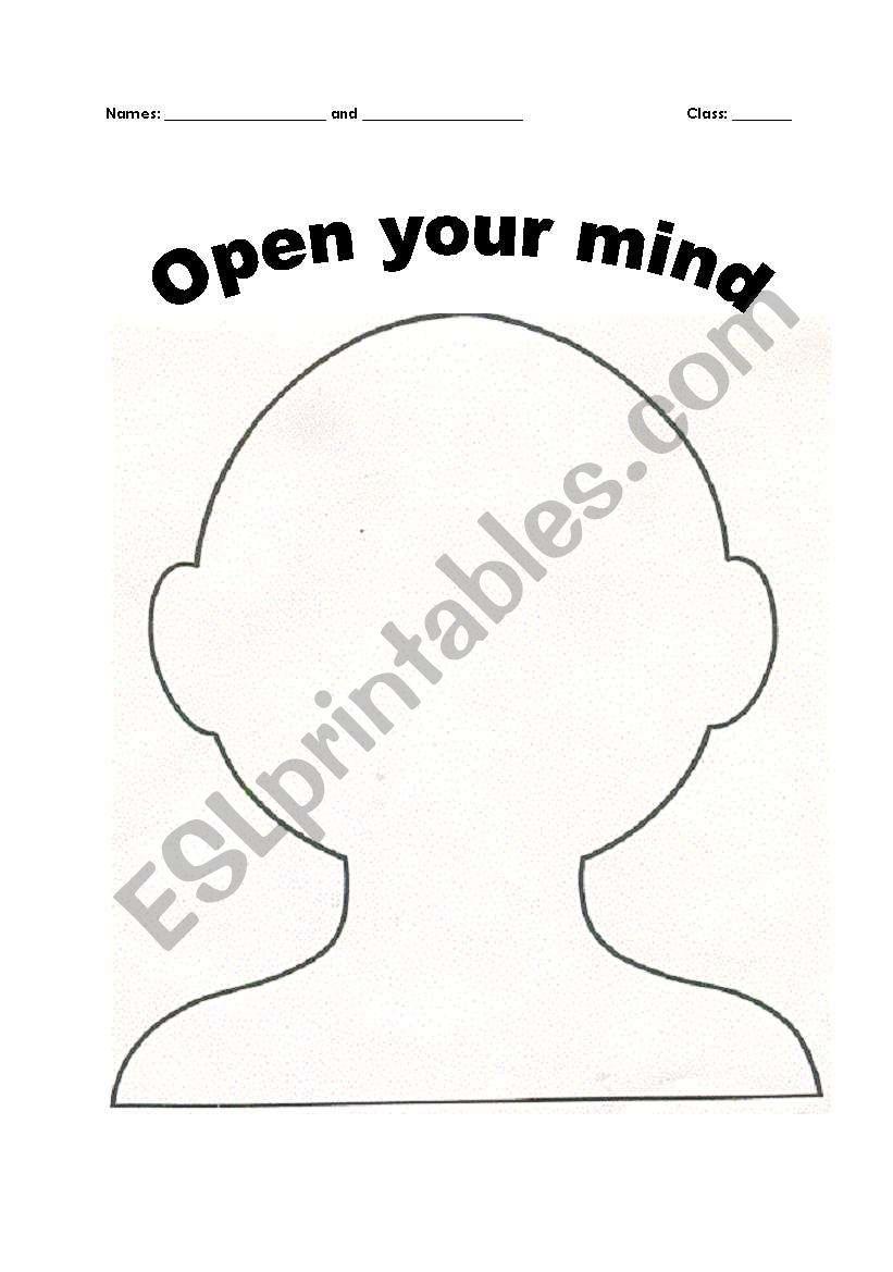 English worksheets: Open Mind Reading Activity