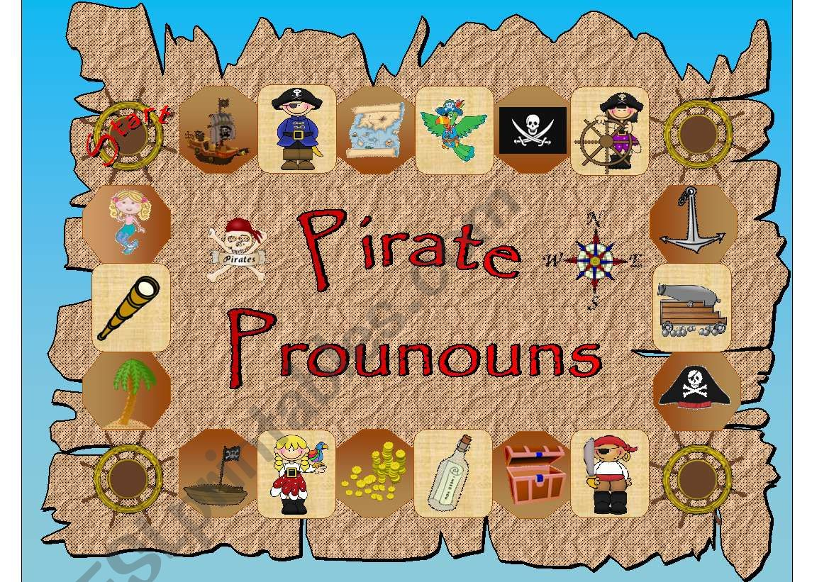 Pirate Pronouns Game Part 1 Of 2 With Clue Cards And