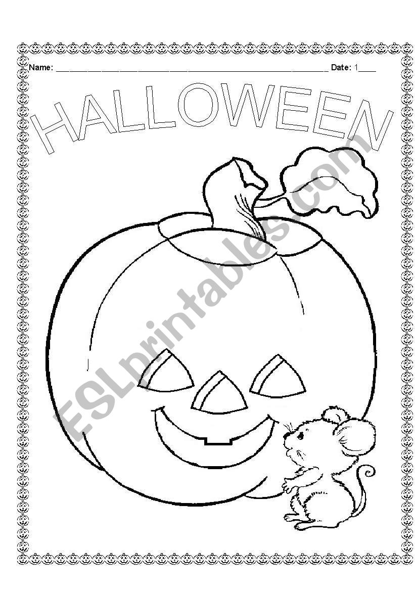 English worksheets: First Grade Halloween Guide