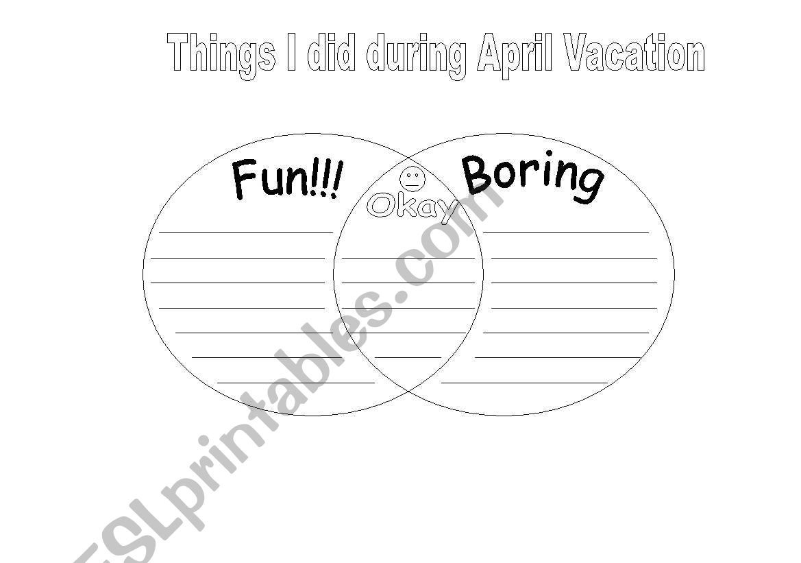 English Worksheets Back From Vacation