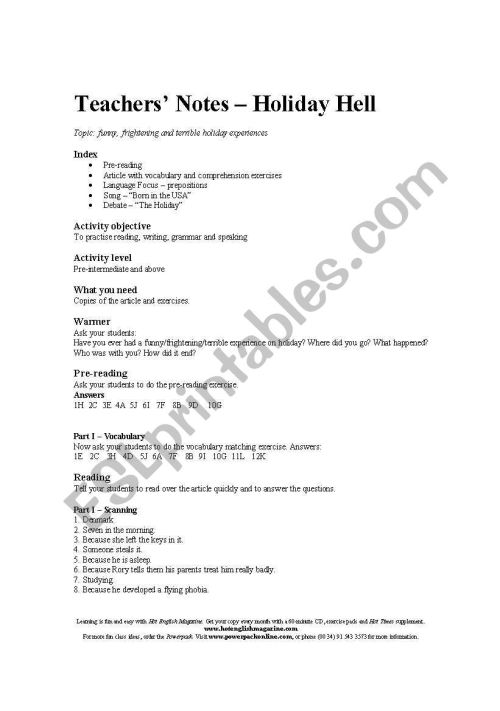 small resolution of English worksheets: Reading comprehension