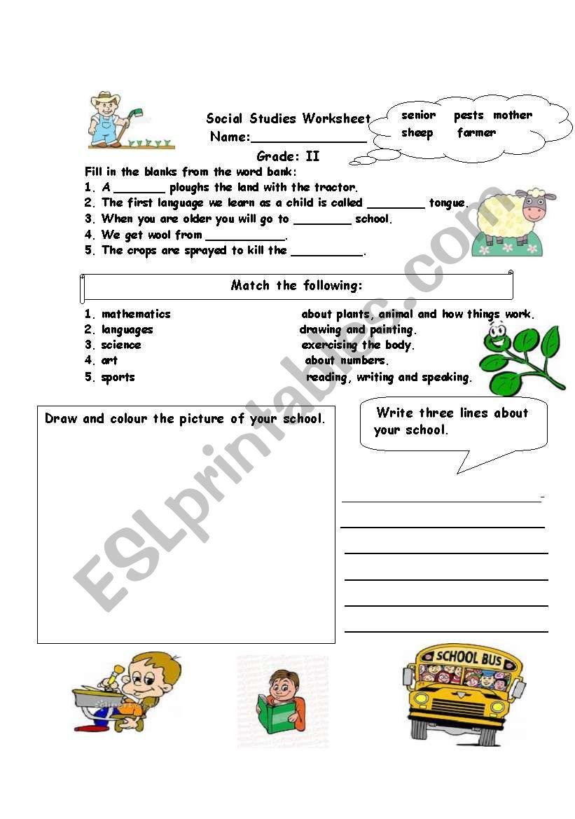 medium resolution of Social studies assessment worksheet - ESL worksheet by alina2