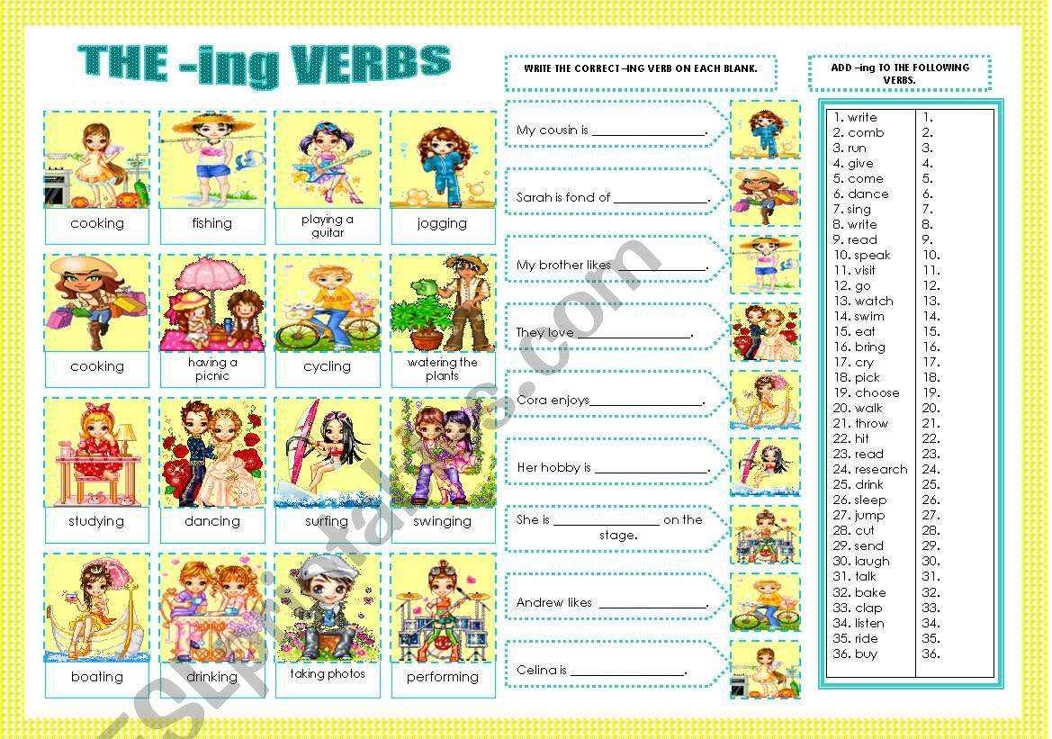 The Ing Verbs
