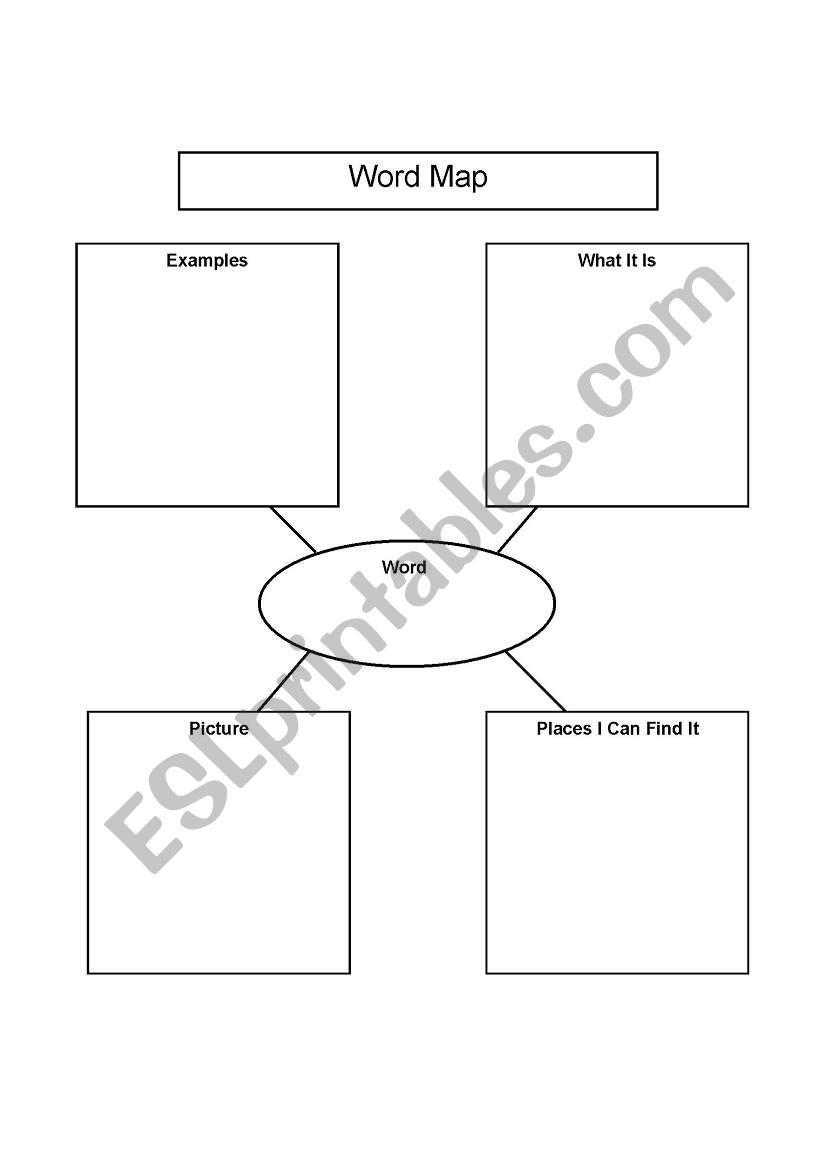 English worksheets: WORD MAP (Graphic Organizer)