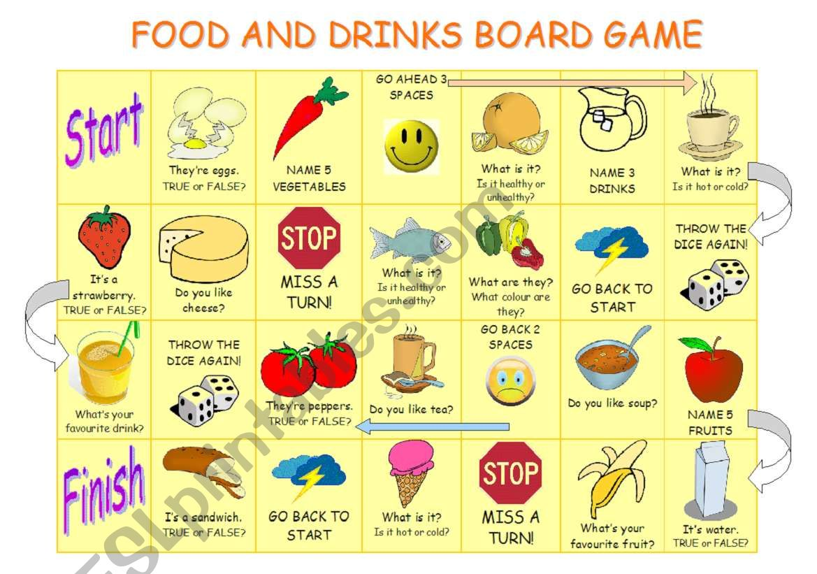 Food And Drinks Board Game
