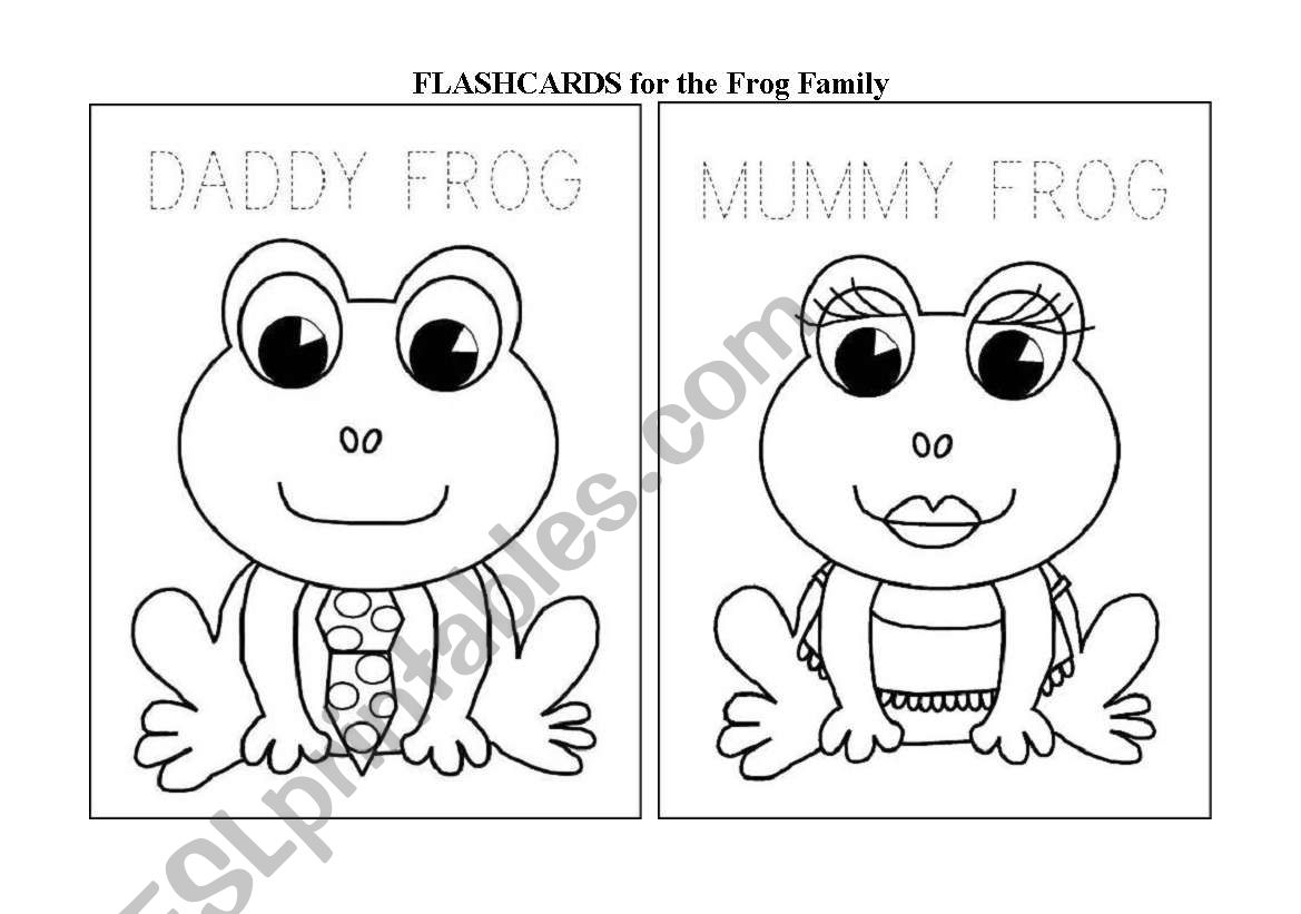 English Worksheets The Family Frog