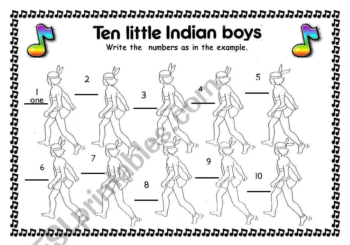 Song Ten Little Indian Boys