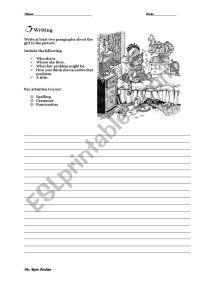 Problem & Solution - ESL worksheet by rommaya