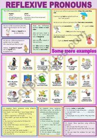 REFLEXIVE PRONOUNS - ESL worksheet by peitieiros