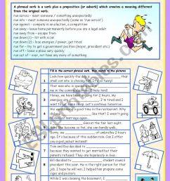 Phrasal verbs (5/10): RUN - ESL worksheet by sharon f [ 1169 x 821 Pixel ]