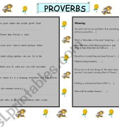 Proverbs And Adages Worksheet   Printable Worksheets and Activities for  Teachers [ 821 x 1169 Pixel ]