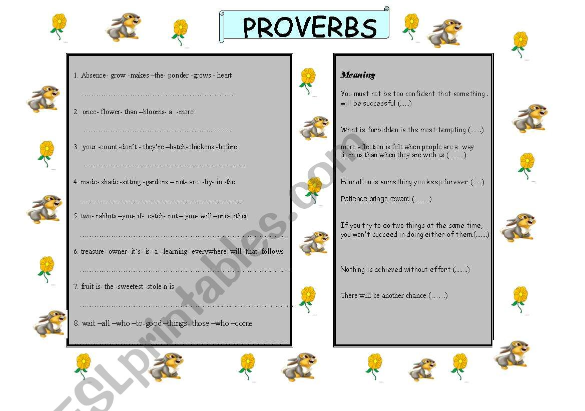 hight resolution of Proverbs And Adages Worksheet   Printable Worksheets and Activities for  Teachers