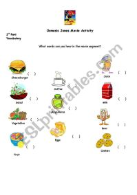 English worksheets: Osmosis Jones activity