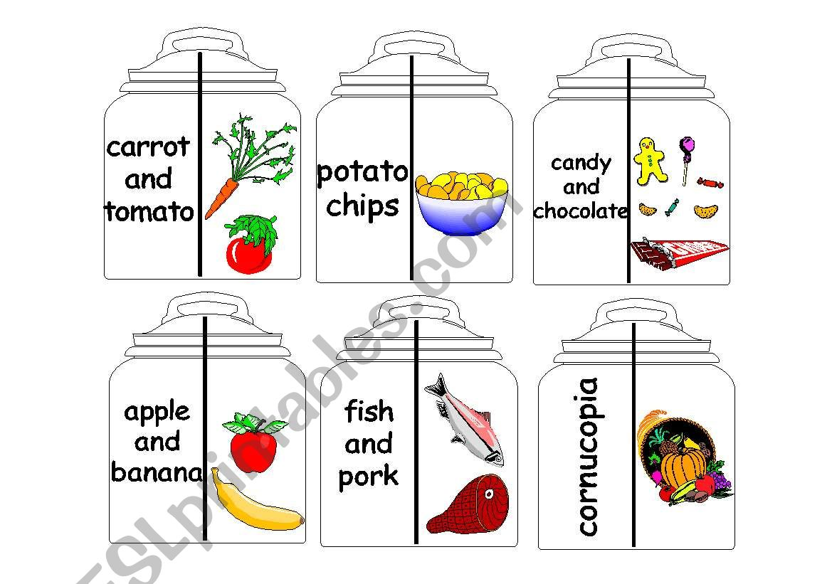 Food Jars Matching Cards