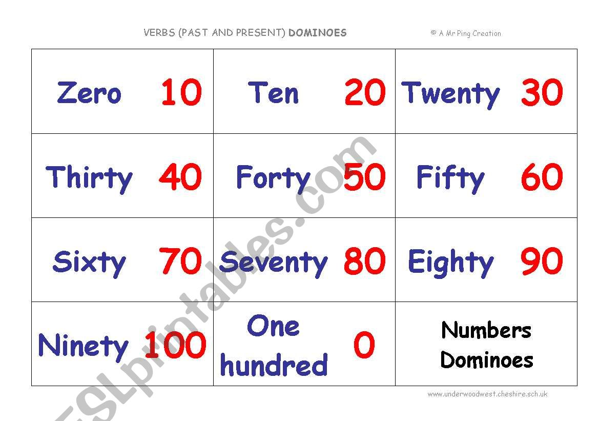 Multiples Of 10 Dominoes