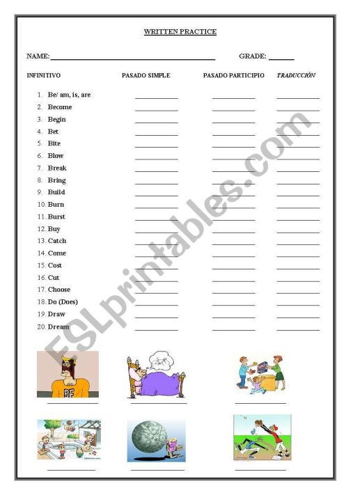 small resolution of irregular verbs for practice you english - ESL worksheet by superjorgito