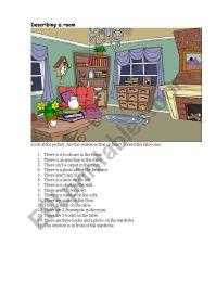 Describing a living room - ESL worksheet by Surocheck