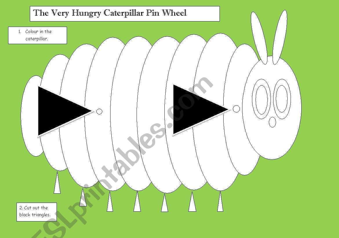 The Very Hungry Caterpillar Wheel Craft