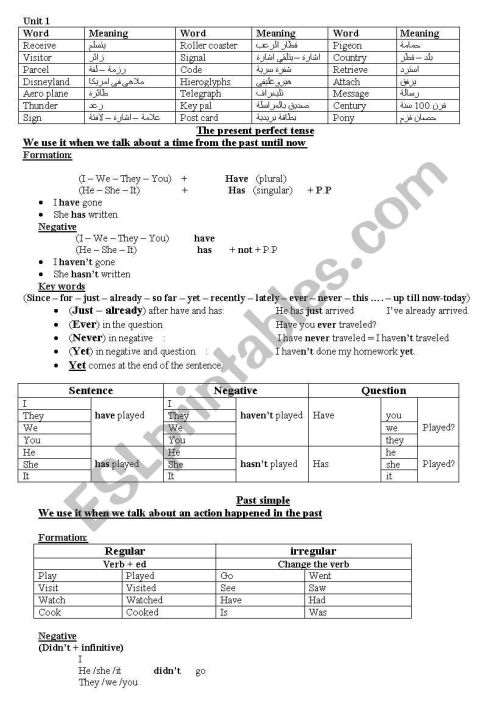 small resolution of English worksheets: way ahead grade 6 part 1 of 3