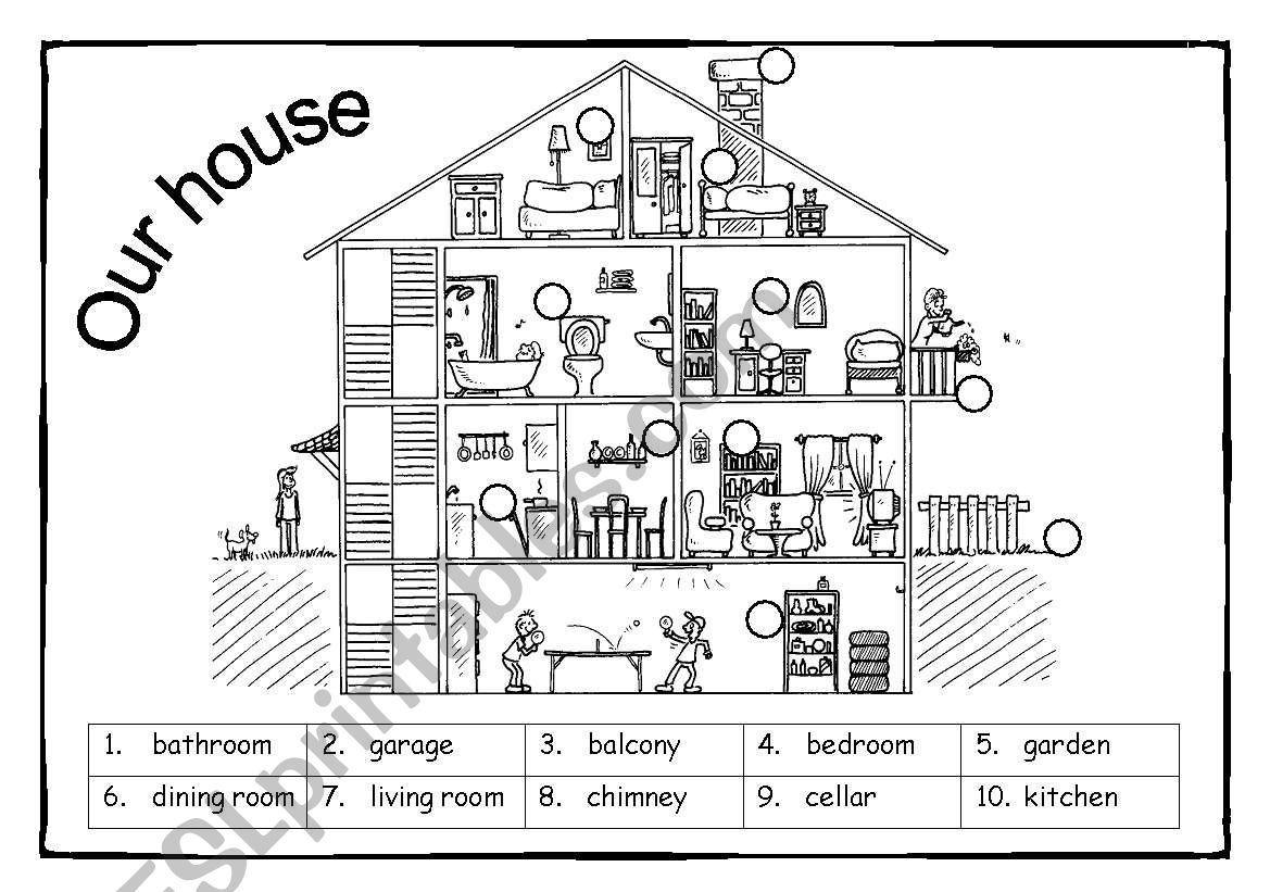 Our House Vocabulary