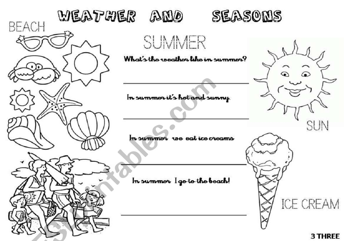What S The Weather Like In Spring And In Summer 2 Worksheets 2 4