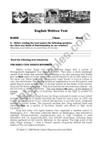The Civil Rights Movement - ESL worksheet by tancredo