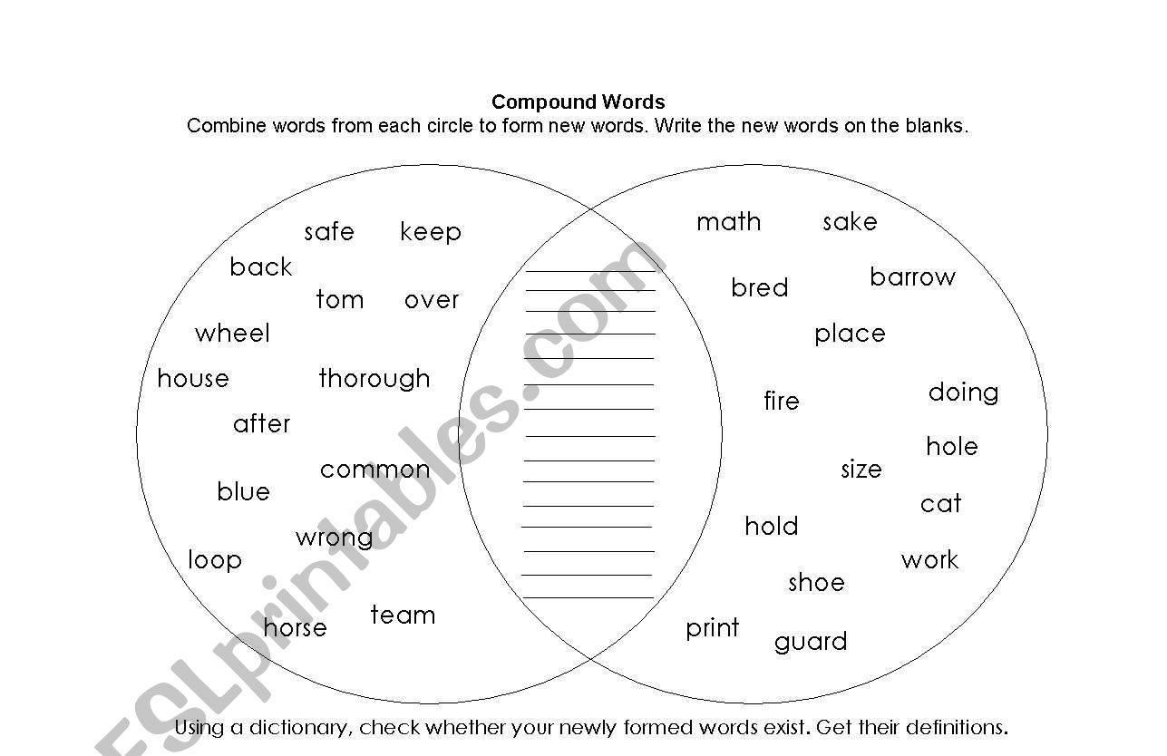 Forming Compound Words Worksheet