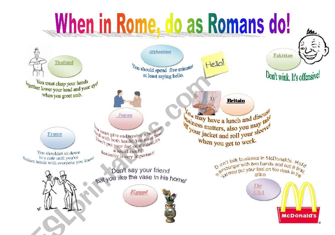 When You In Rome Do As Romans Do
