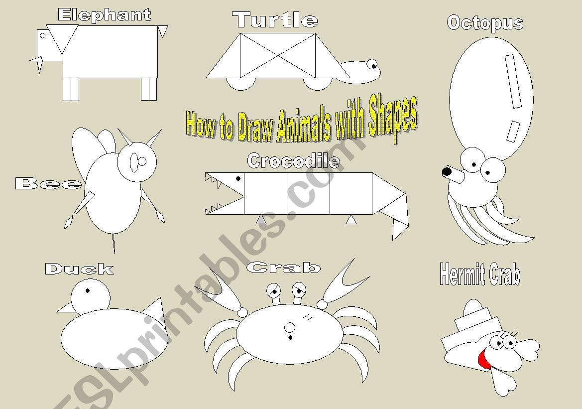 How To Draw Animals Using Shapes