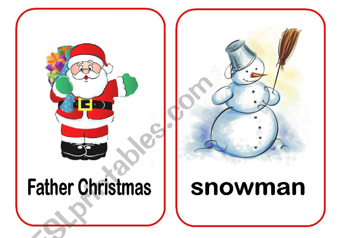 Christmas Flashcards 1