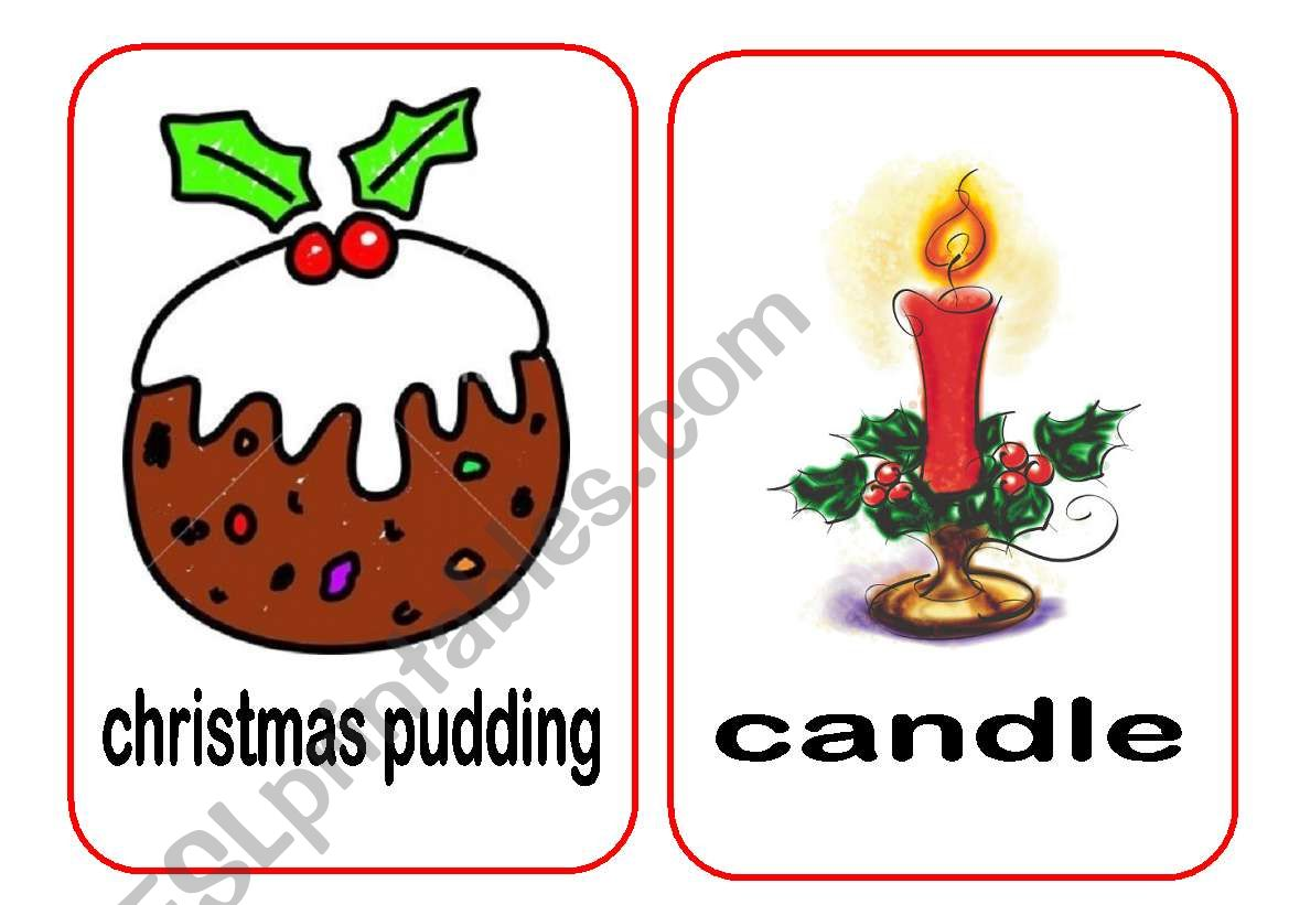 Christmas Flashcards 4