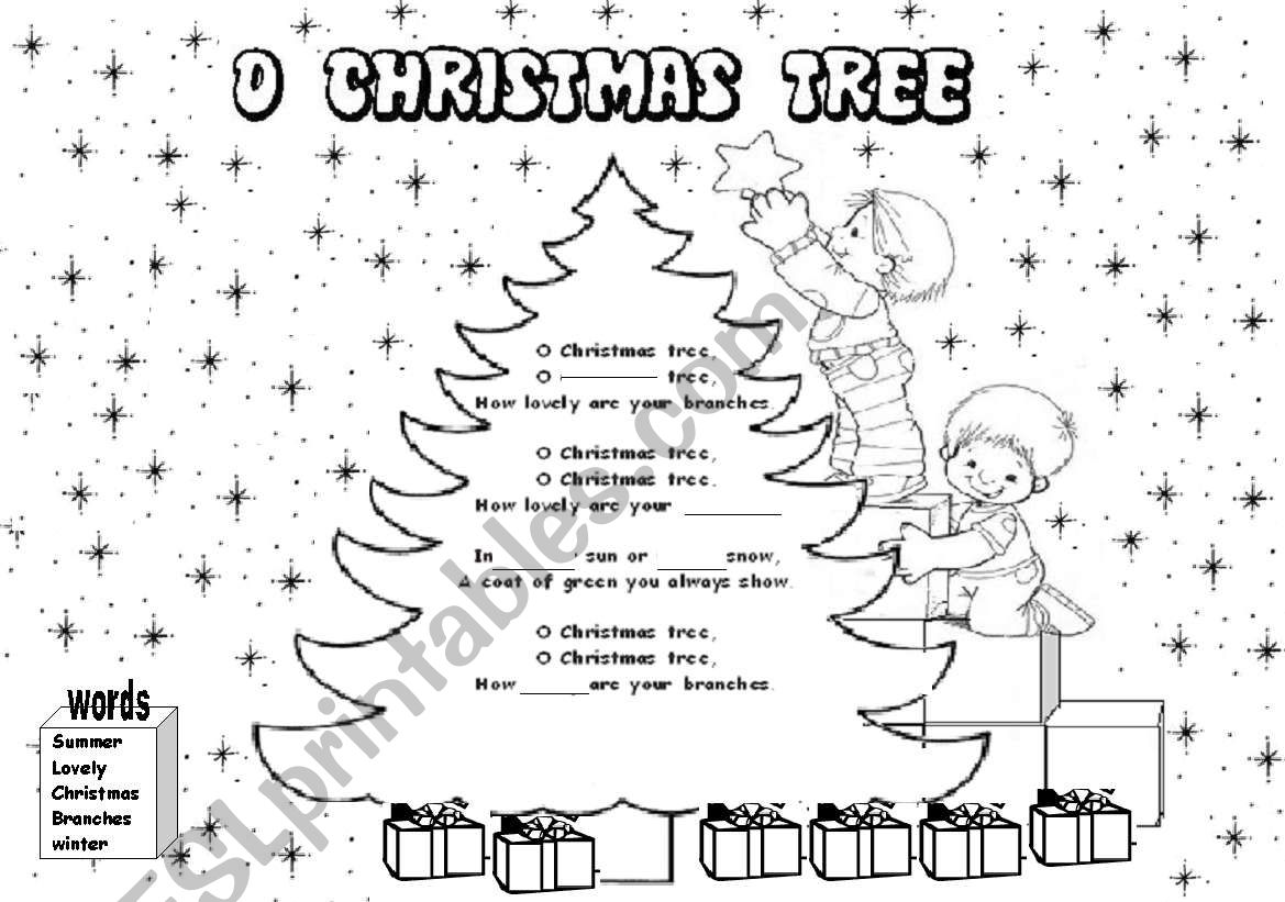 Fill In The Gaps O Christmas Tree Song