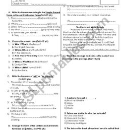 9th grade 3rd exam - ESL worksheet by handanca [ 1169 x 821 Pixel ]
