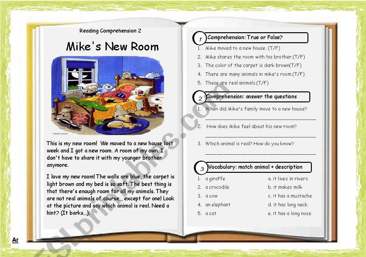 Reading Comprehension 02 Mike S New Room Key
