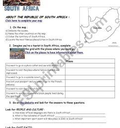 Webquest South Africa (geography/flag/history) - ESL worksheet by varsik [ 1169 x 821 Pixel ]