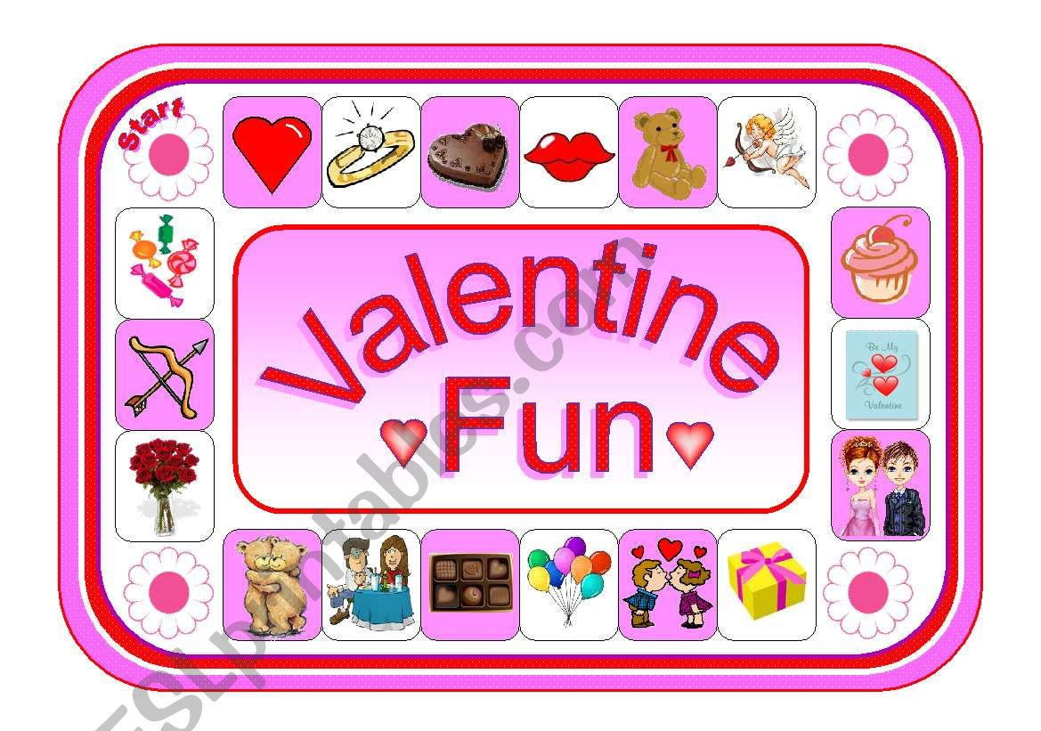 Valentine Fun Board Game With Pictures