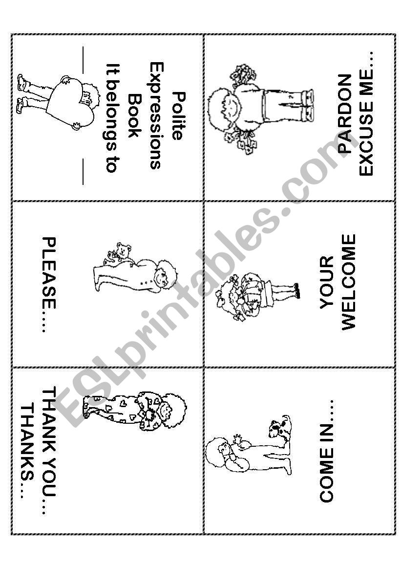 hight resolution of Polite Expressions Mini Book - ESL worksheet by ilona