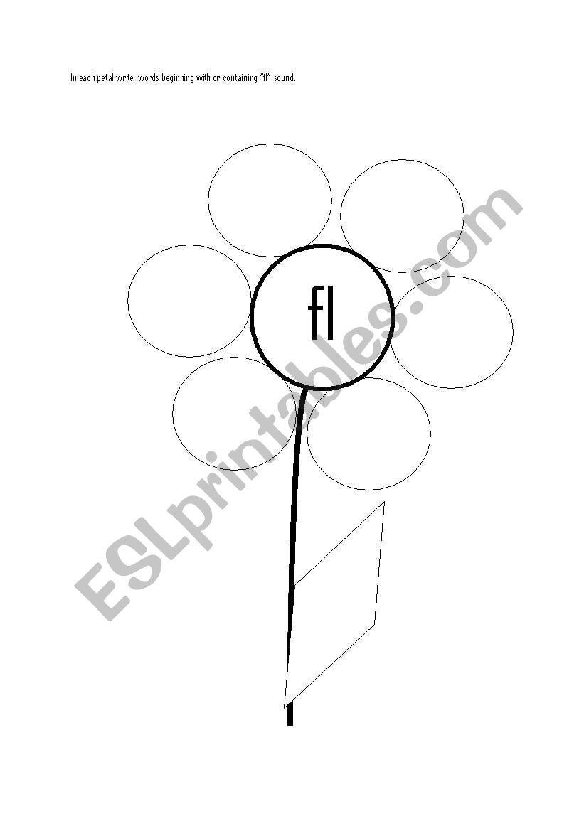 English worksheets: ´FL´ blend worksheet