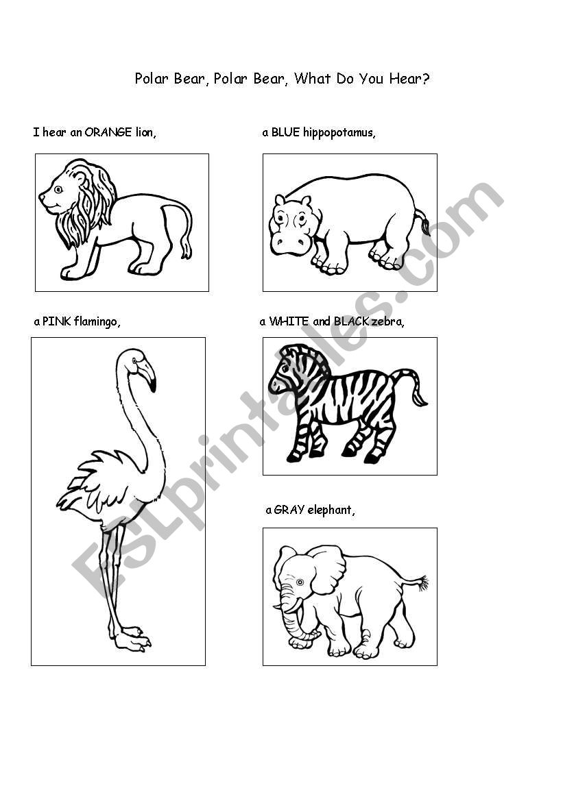 English worksheets: Polar Bear, Polar Bear, what do you
