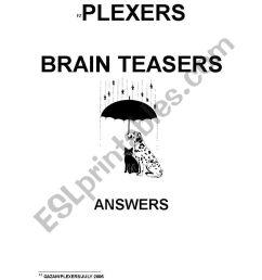 PLEXERS - BRAIN TEASERS - ESL worksheet by sandra46 [ 1169 x 821 Pixel ]